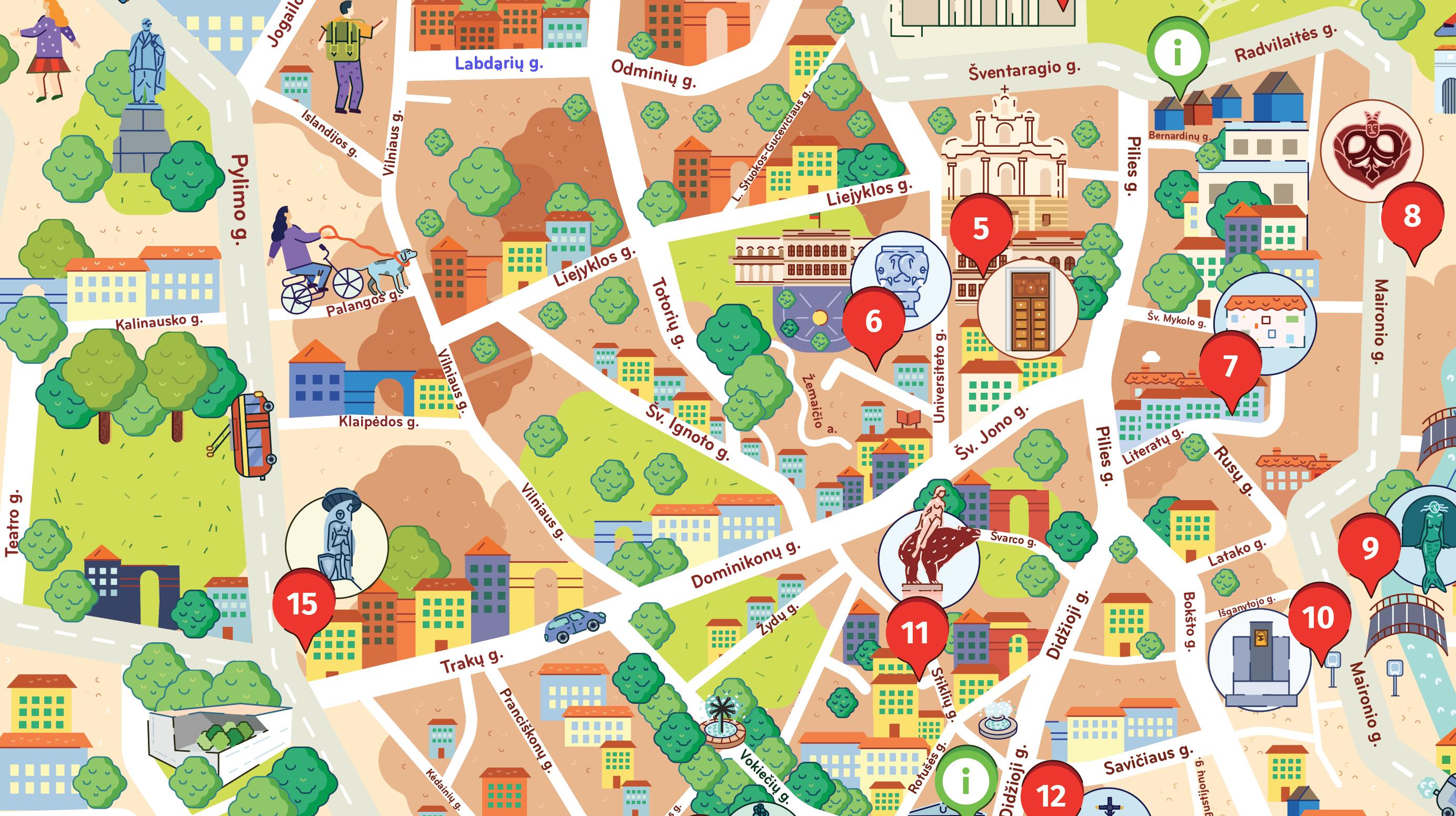 """Sukurtas unikalus žemėlapis-žaidimas """"Vilnius vaikams"""" kviečia kolekcionuoti miesto patirtis"""