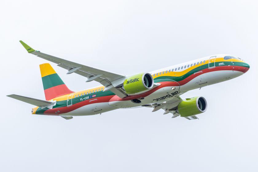 """""""airBaltic skelbia naujas kryptis iš Rygos 2020 m"""