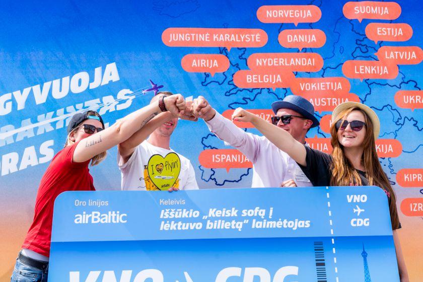 Visi Lietuvos oro uostų sėdėjimo iššūkį priėmę dalyviai laimėjo keliones į Paryžių